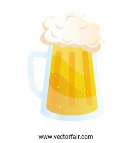 beer jar drink isolated icon