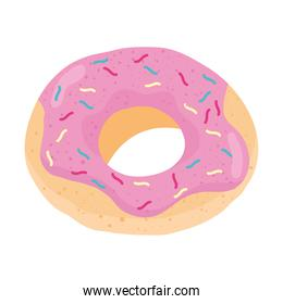 sweet donut delicious food icon