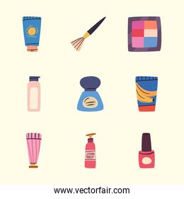 Make up and cosmetic icon set