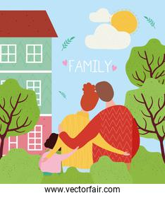 house and love family members characters together scene