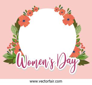 Womens Day floral banner frame decoration flowers