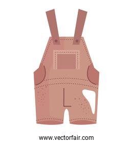 baby overalls clothes isolated icon