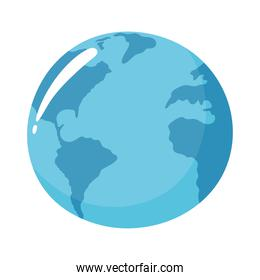 world planet map blue design white background