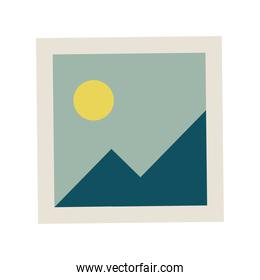 picture file with mountains and sun icon
