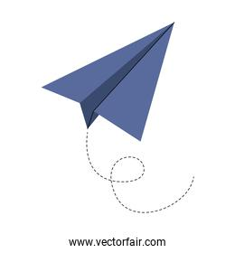 paper airplane toy flying icon
