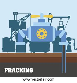 fracking industry fuel technology production and oil drill