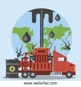 fracking oil industry exploration production drilling world