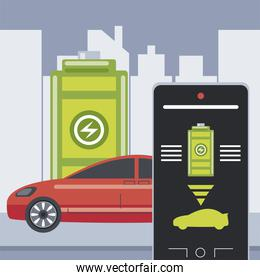 electric car battery level smartphone control application