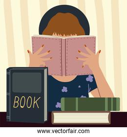 read book, woman books education learning and reading