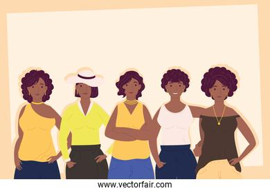 young afro girls avatars characters