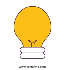bulb light icon, colorful design