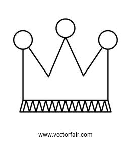 crown icon image, line style