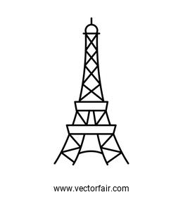 eiffel tower icon, line style