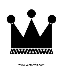 crown icon image, silhouette style