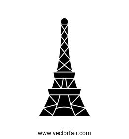 eiffel tower icon, silhouette style