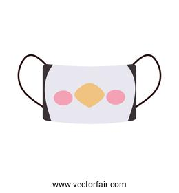 icon of face mask with penguin mouth design