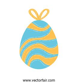 egg painted with yellow ribbon happy easter celebration
