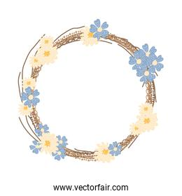 wreath crown decoration with flowers