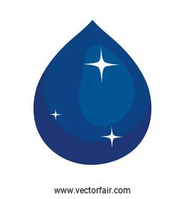 blue water drop icon, colorful design