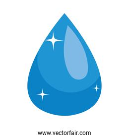 icon of blue water drop, colorful design