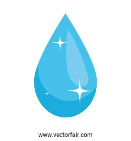 icon of water drop shining, colorful design