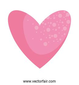 pink abstract heart icon, colorful design