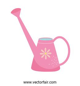 pink watering can icon, colorful design