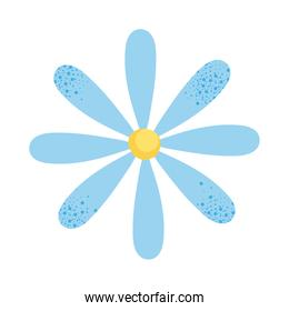 icon of blue flower, colorful design