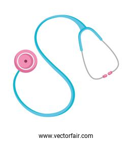 medical stethoscope tool, colorful design