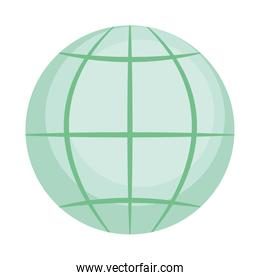 global sphere icon, colorful design
