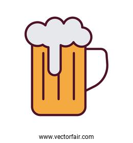 beer jar drink line and fill style icon
