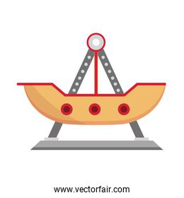 amusement park pirate ship ride carnival flat design