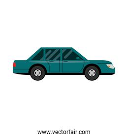 car sedan transport vehicle side view, car icon vector