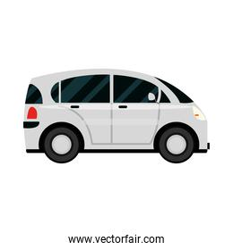 compact car transport vehicle side view, car icon vector