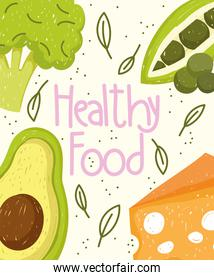 healthy food vegetables cheese nutrition and fresh