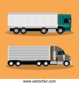 cargo truck transportation, delivery, fast delivery or logistic transport
