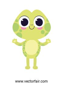 cute turtle sticker on a white background