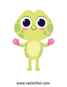 cute turtle sticker with box gloves