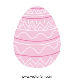easter egg with a pink color