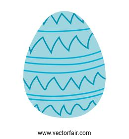 easter egg with blue lines