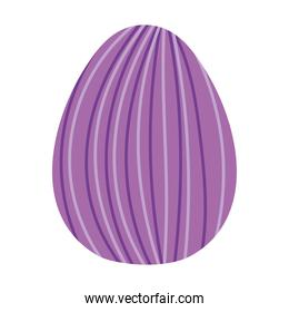 easter egg with purple lines