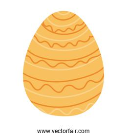 easter egg with yellow color