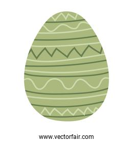 easter egg with green color