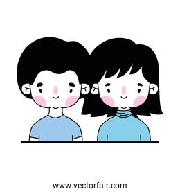 smiling couple on a white background