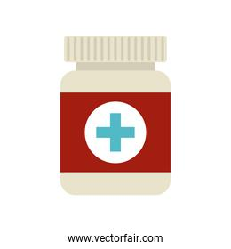 medical container on a white background