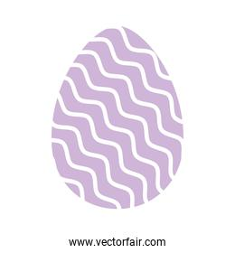 easter egg with a purple color and white lines