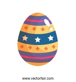 happy easter celebration yellow and blue egg painted
