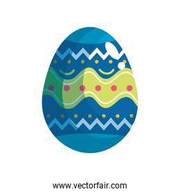 happy easter celebration blue and green egg painted