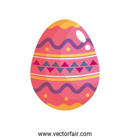 happy easter celebration pink and colors egg painted