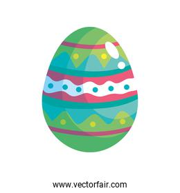 happy easter celebration green egg painted